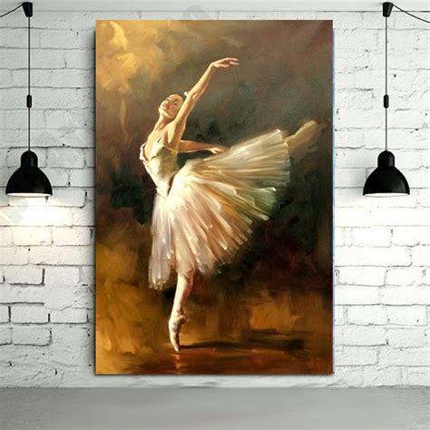 hand painted modern ballerina dancer oil painting spanish