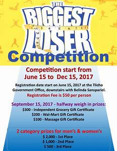 upcoming events tlicho With biggest loser certificate template