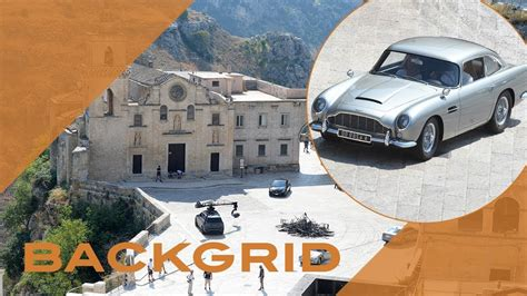 James Bond filming with an Aston Martin DB5 for 'No Time ...