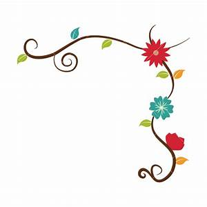 Flower Decorative Border Vector Icons by Canva