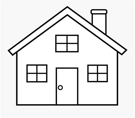 simple home clipart black  white house outline clip