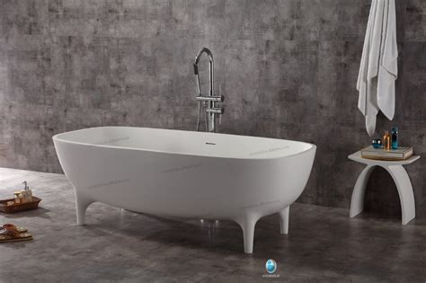 New Bathtub Cost by New Invented Bathroom Stand Alone Solid Surface White