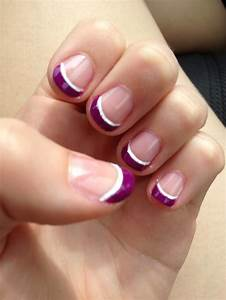 Purple French Tip!!!   Nail designs/beauty   Pinterest