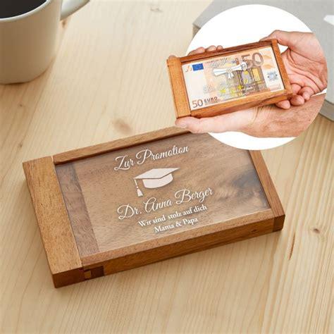 persoenlich gravierte magische geldgeschenkbox promotion