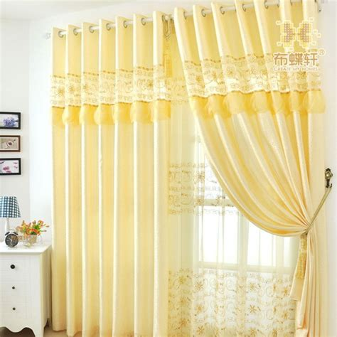 image yellow curtain panels for living room