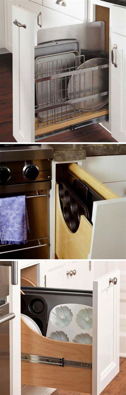 easy diy ideas  organize  kitchen cabinets