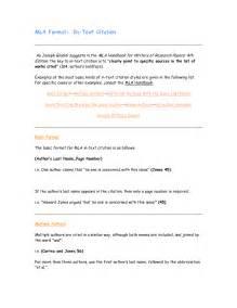 In Text Citation MLA Format Essay