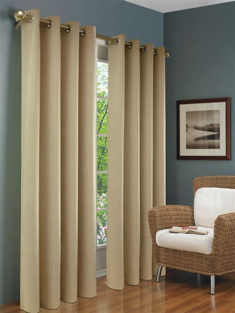 Thermalogic Curtains Home Depot by Thermalogic Insulated Curtain Beige 54 Inches X