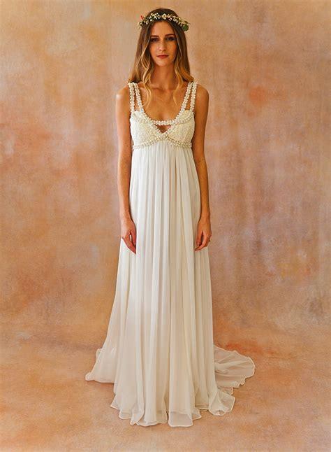 embellished bohemian wedding dress dreamers  lovers