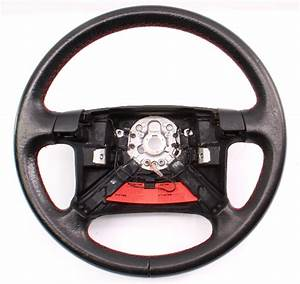 Driver Edition Red Stitched Leather Steering Wheel 96