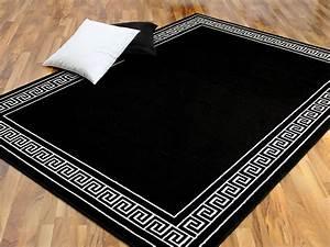 Teppich Schwarz Weiß : teppich trendline schwarz wei r mische bord re 4 gr en ~ A.2002-acura-tl-radio.info Haus und Dekorationen