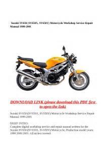 Suzuki Sv650  Sv650x  Sv650y  Motorcycle Workshop Service Repair Manual 1999 2001 By Abcdeefr