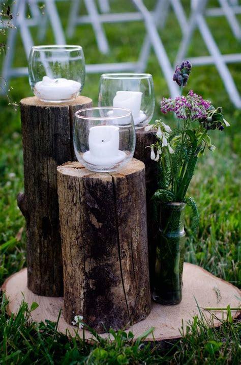 Tree Stump Decorating Ideas - exquisite outdoor wedding d 233 cor ideas