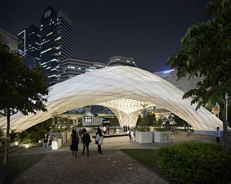 zcb bamboo pavilion  chinese university  hong kong