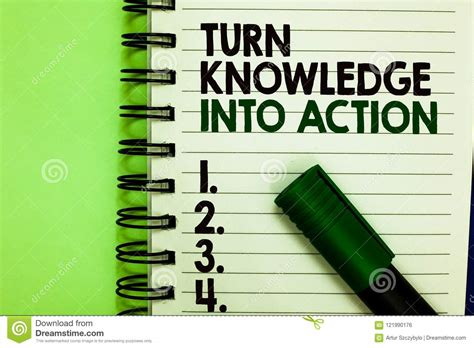 Handwriting Text Turn Knowledge Into Action. Concept