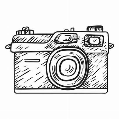 Camera Sketch Vector Rangefinder Dslr Digital Transparent