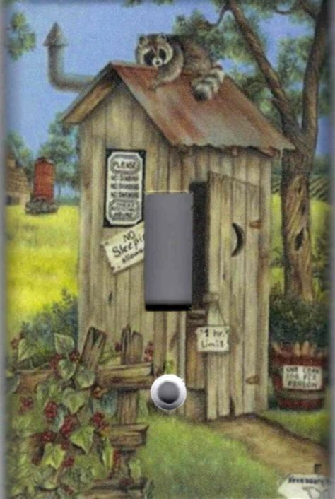 outhouse  racoon outhouse home decor single light
