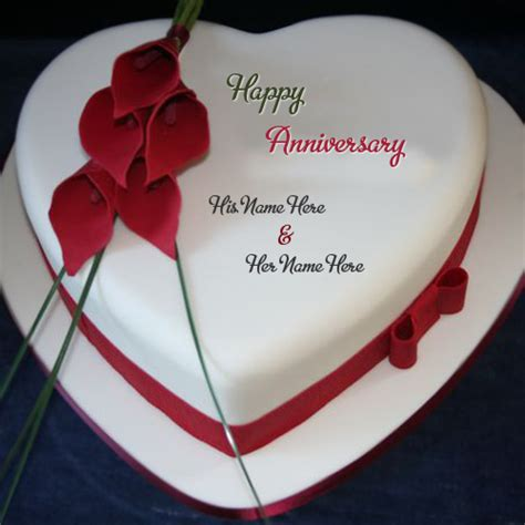 flower design anniversary wishes cake  pictures