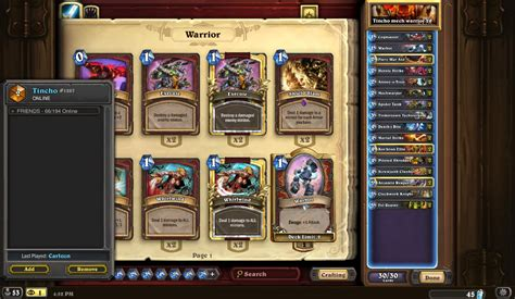 Warrior Deck Hearthpwn by S18 2 Legend Mech Warrior Hearthstone Decks