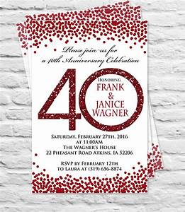 anniversary invitation templates 28 free psd vector With free printable 40th wedding anniversary invitations