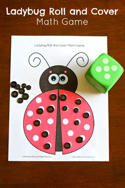 ladybug roll and cover math 926 | Ladybug Roll and Cover Math Game