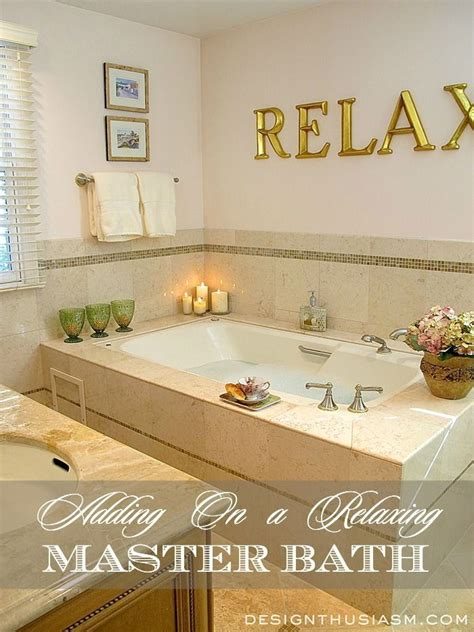 relaxing bathroom decorating ideas a relaxing master bath add on spa bath and master bathrooms