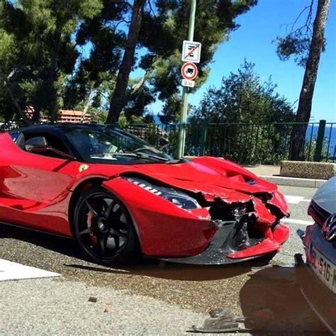 laferrari crash laferrari has first customer crash in monte carlo updated