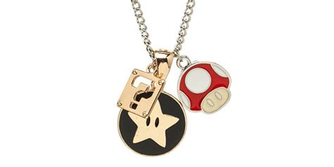 video game inspired jewelry super mario geek necklace