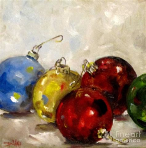 christmas ornaments painting by delilah smith