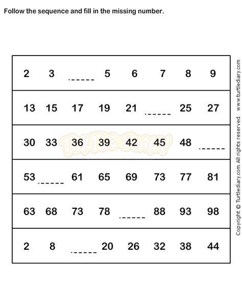 number sequence worksheet 2 math worksheets grade 1