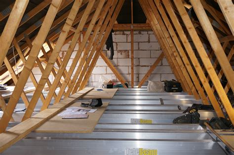 aluminium attic ladder 3 section telebeam loft conversion in build attic designs