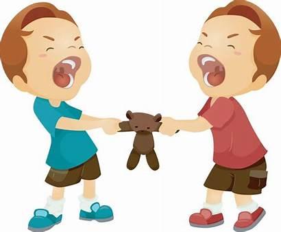 Arguing Clipart Twins Odd Peace Children Parenting