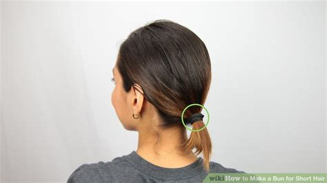ways    bun  short hair wikihow