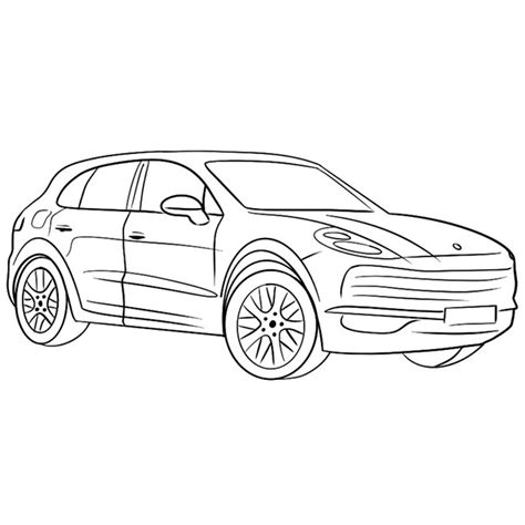 porsche cayenne coloring page coloring books