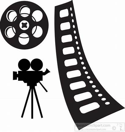 Camera Reel Clipart Tape Theatre Clip Graphics