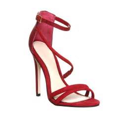 Red High Heel Strappy Sandals