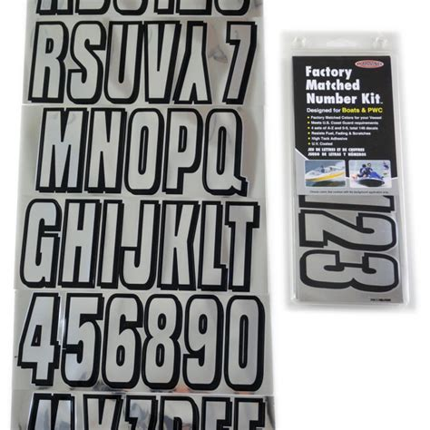 Boat Registration Lettering Size by Chrome Black Boat Lettering Registration Numbers 320