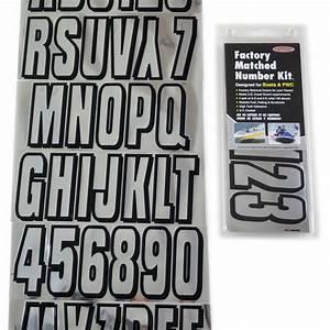 chrome black boat lettering registration numbers 320 With boat lettering kit