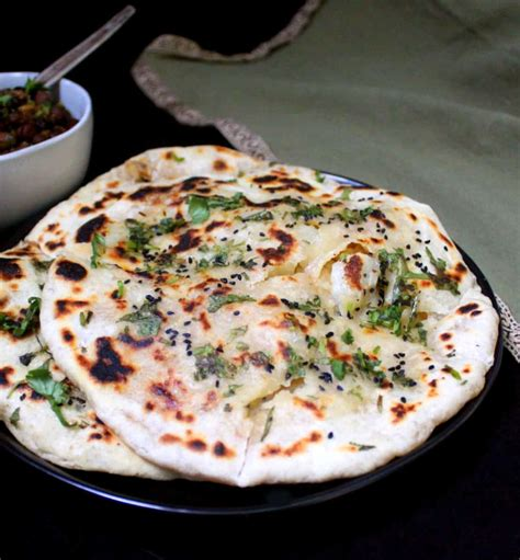 easy aloo kulcha  potato stuffed indian flatbread