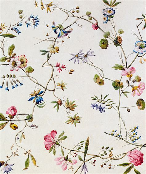textile design painting by william kilburn