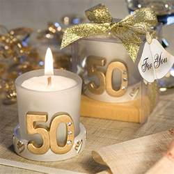 50th wedding anniversary favors gold candle 50th anniversary favors