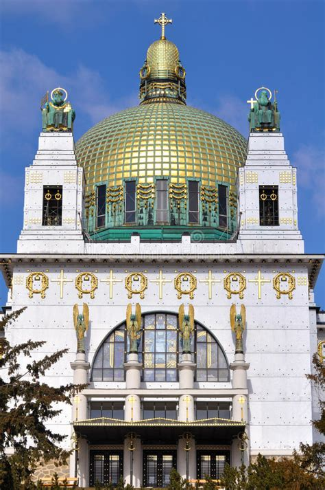 The Nouveau Of Otto Wagner Otto Wagner Church Vienna Stock Image Image Of Detail