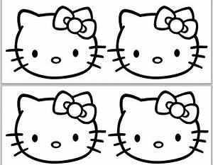 hello kitty birthday banner template hello kitty party With hello kitty cut out template
