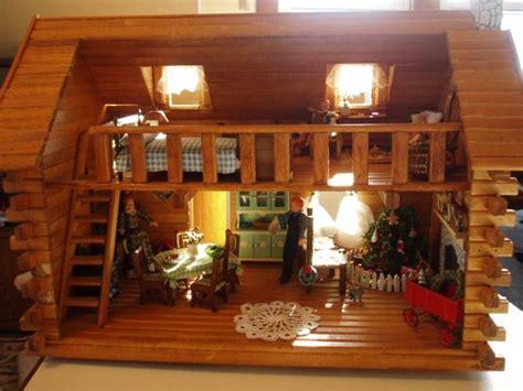 homeade log cabin bed shenandoah doll house pretty