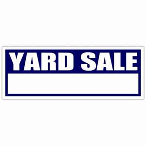 yard sale sign blue blank garage sale signs With yard sign design template