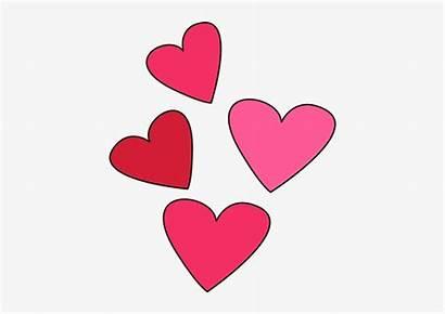 Valentine Hearts Valentines Clip Clipart Week Transparent