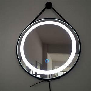 Miroir Barbier Rond : miroir barbier clairage led 50 cm liana miroir salle de bain ~ Teatrodelosmanantiales.com Idées de Décoration