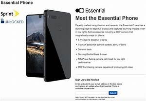 As Best Buy Listing Goes Up  The Essential Phone Should