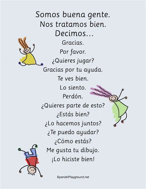 kind words  spanish activities  kids spanish