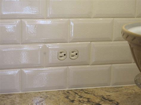 How To Place Outlets In Subway Tile  Close Up Of A Tiled
